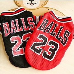 camiseta de basket para perros