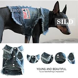 camisa vaquera para perro