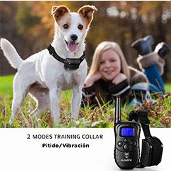collar de adiestramiento para perros con descarga electrica