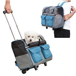 trolley para perros para avion